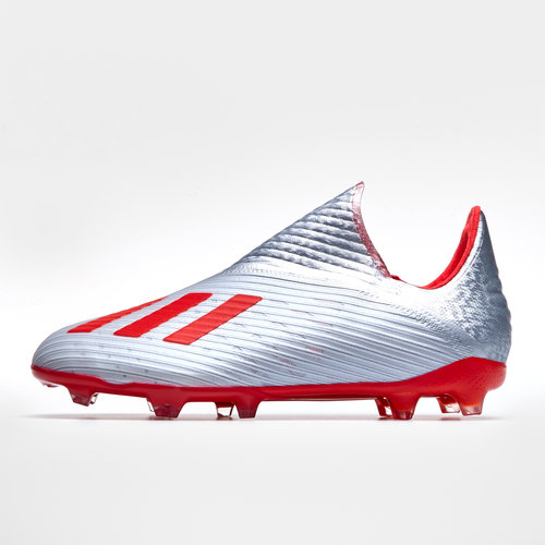 2f2fec74ee7 adidas X 19+ FG Kids Football Boots. Silver Metallic Hi Res Red White