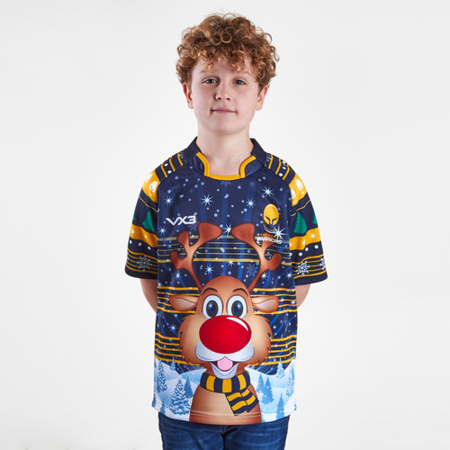 Worcester Warriors 2018 Kids Christmas Rugby Shirt