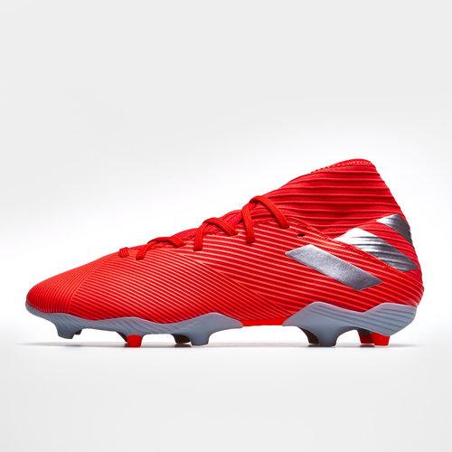 89c1968551a adidas Nemeziz 19.3 FG Kids Football Boots. Active Red Silver Metallic Solar  Red