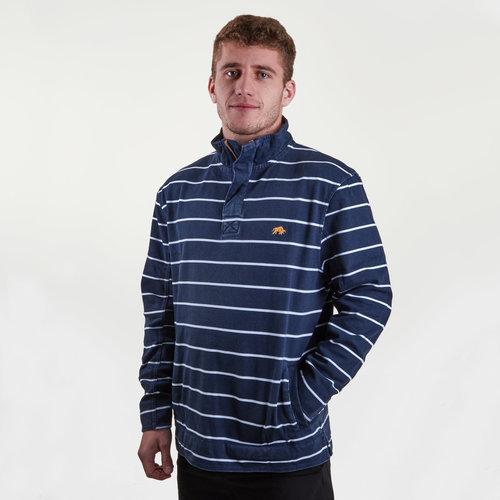 Pigment Print Stripe 1/4 Zip Rugby Sweat