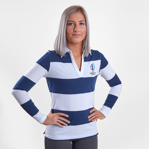 RWC 2019 L/S Stripe Ladies Rugby Shirt