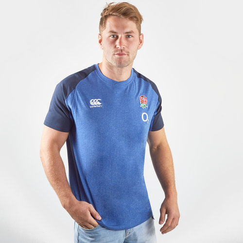 England 2019/20 Players Cotton Rugby Training T-Shirt