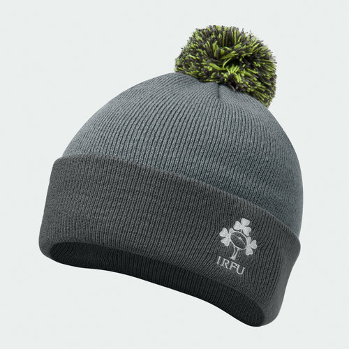 Ireland Rugby Bobble Hat Mens