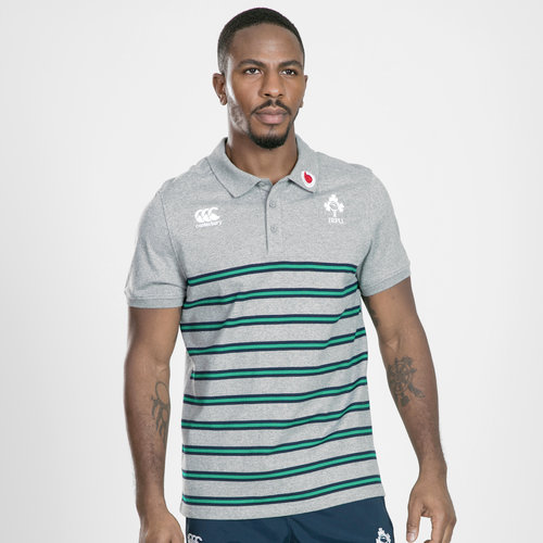 Ireland IRFU 2019/20 Cotton Stripe Rugby Polo Shirt