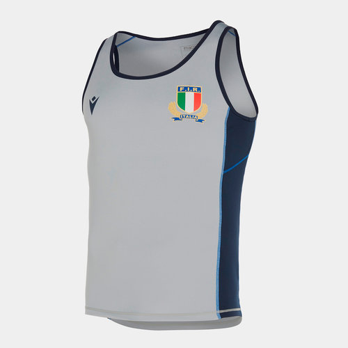 Italy 2019/20 Players Gym Rugby Training Singlet