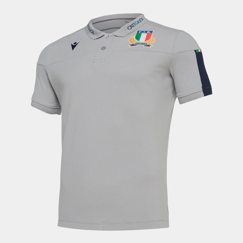 Italy 2019/20 Players Travel Rugby Polo Shirt