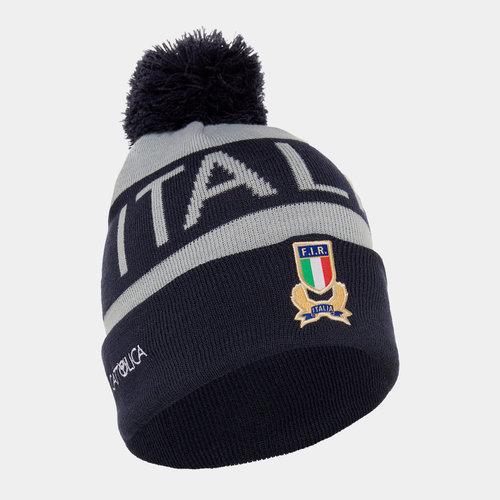 Italy 2019/20 Players Pom Pom Rugby Beanie