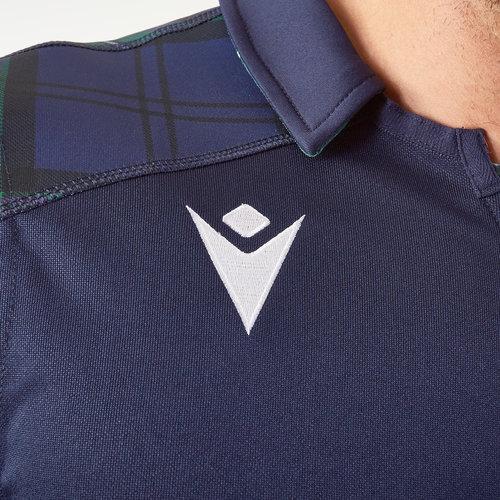 Macron Mens Scotland 2019//20 Alternate Cotton S//S Replica Rugby Shirt