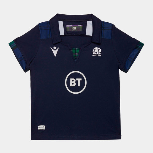Scotland 2019/20 Mini Kids Home S/S Replica Rugby Shirt