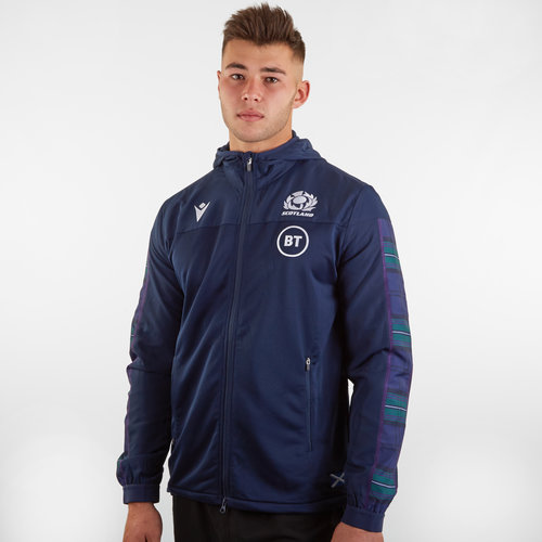 Scotland 2019/20 Players Anthem Hooded Rugby Jacket
