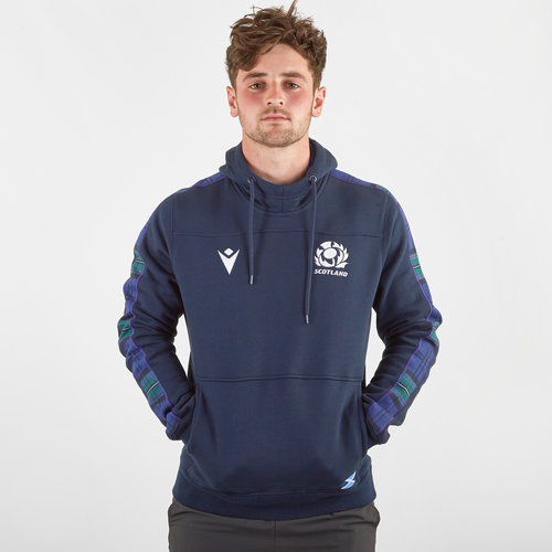 Scotland 2019/20 Players Travel Hooded Rugby Sweat