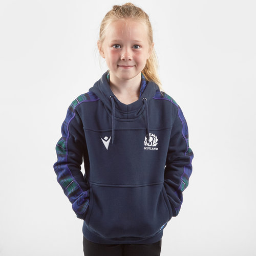 Scotland 2019/20 Kids Travel Hooded Rugby Sweat