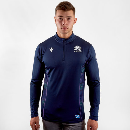 Scotland 2019/20 Players 1/4 Zip Rugby Jacket