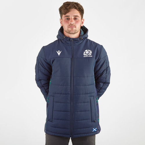 Scotland 2019/20 Players Long Padded Rugby Jacket