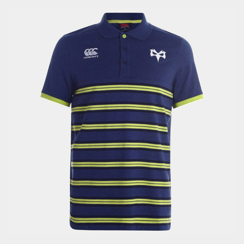 Ospreys 2019/20 Cotton Stripe Rugby Polo Shirt