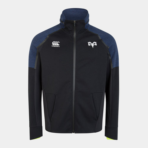 Ospreys 2019/20 Players Hybrid Full Zip Hooded Rugby Sweat