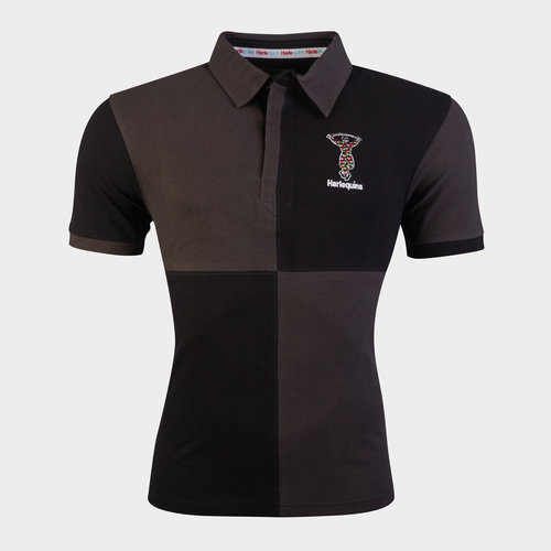Harlequins 2018/19 Tonal Quartered Rugby Polo Shirt