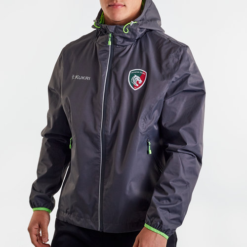 Leicester Tigers 2019/20 Full Zip Rain Jacket