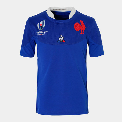 France RWC 2019 Kids Home S/S Rugby Shirt