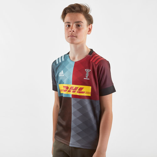 Harlequins 2019/21 Youth Home S/S Replica Rugby Shirt