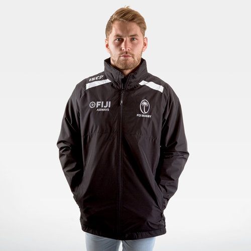 Fiji 2019/20 Players Wet Weather Rugby Jacket