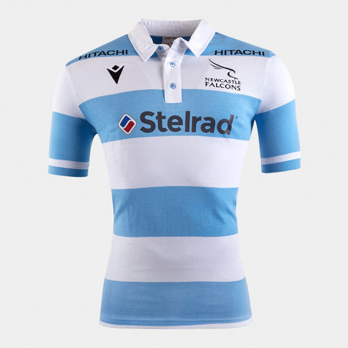 Newcastle Falcons 2019/20 Kids Alternate S/S Cotton Rugby Shirt