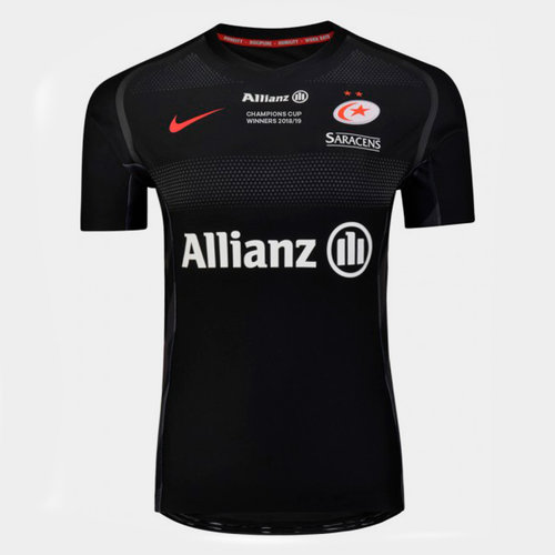 Saracens 2018/19 Champions Cup Winners Home Players S/S Match Shirt