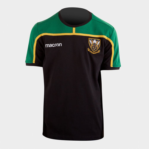 Northampton Saints 2018/19 Players Travel Rugby T-Shirt