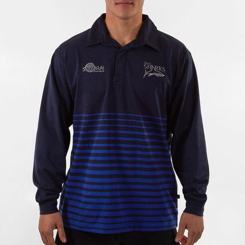 Sale Sharks 2019/20 Hooped Cotton L/S Shirt