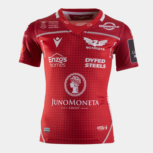 Scarlets 2019/20 Kids Home S/S Replica Rugby Shirt