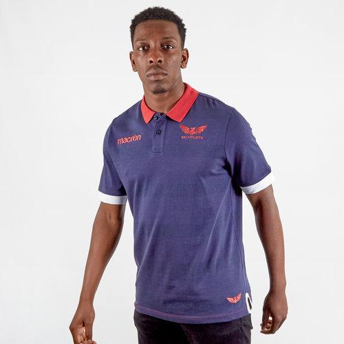 Scarlets 2019/20 Travel Pique Polo Shirt