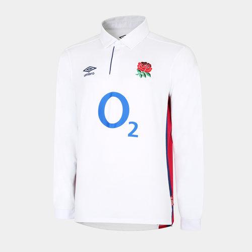 England Mens Home L/S Classic Shirt 21/22
