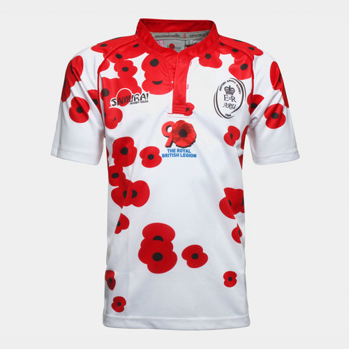 Army Rugby Union Poppy Appeal S/S Rugby Shirt