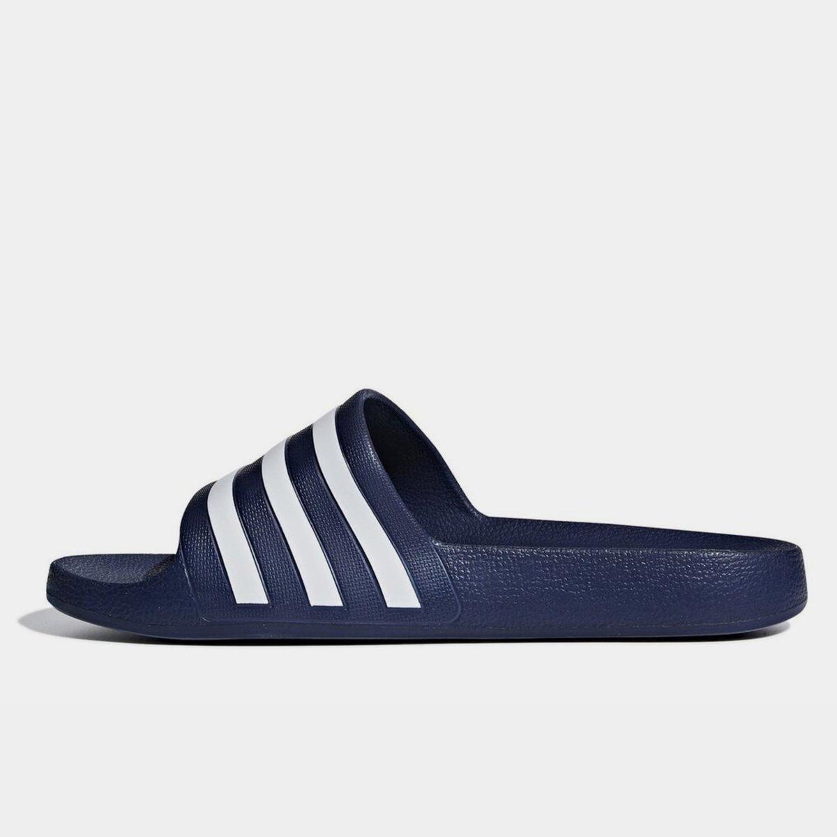 hot sale online fa5e3 ddbe2 adidas Mens Duramo Slide Flip Flops Sliders Pool Beach Sandals Navy