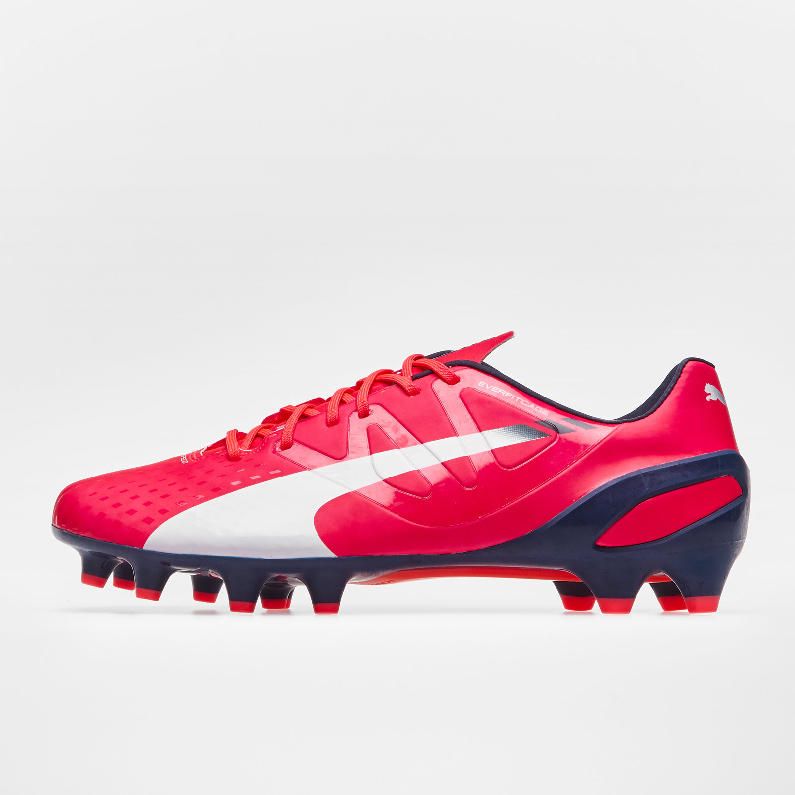 pretty nice 93329 50aa7 Details about Puma Mens evoSPEED 1.3 FG Football Boots Sports Shoes Studs  Red