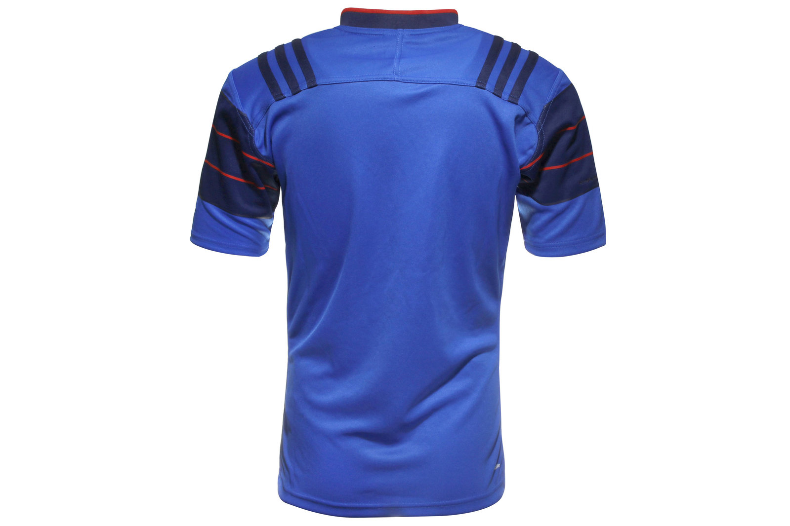 0a6ac193e27 adidas Mens France 2015 16 Home S S Replica Rugby Shirt Top Sports Training