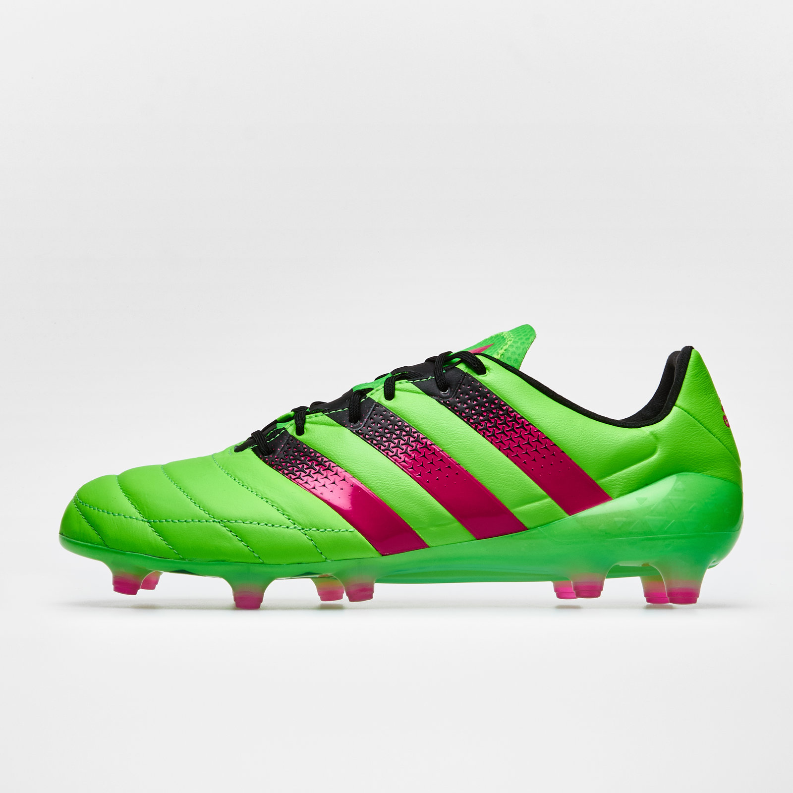 brand new b4869 09604 adidas Mens Ace 16.1 Firm Ground AG Leather Football Boots Studs Trainers  Green