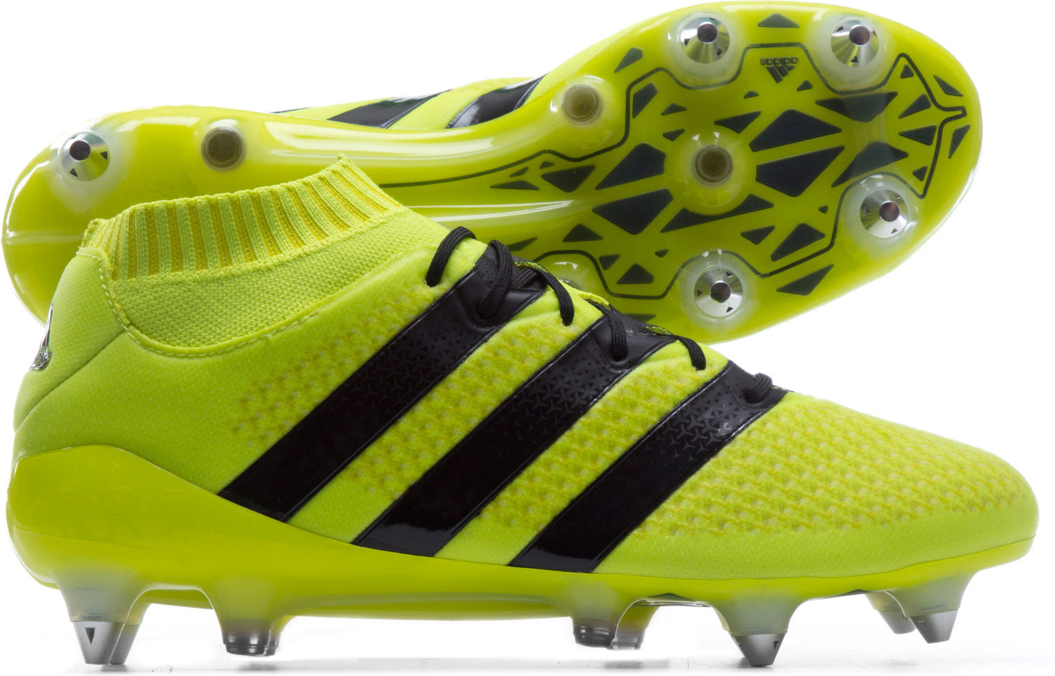 fdc1ad952c79 adidas Mens Ace 16.1 Primeknit SG Football Boots Studs Sports Shoes Yellow