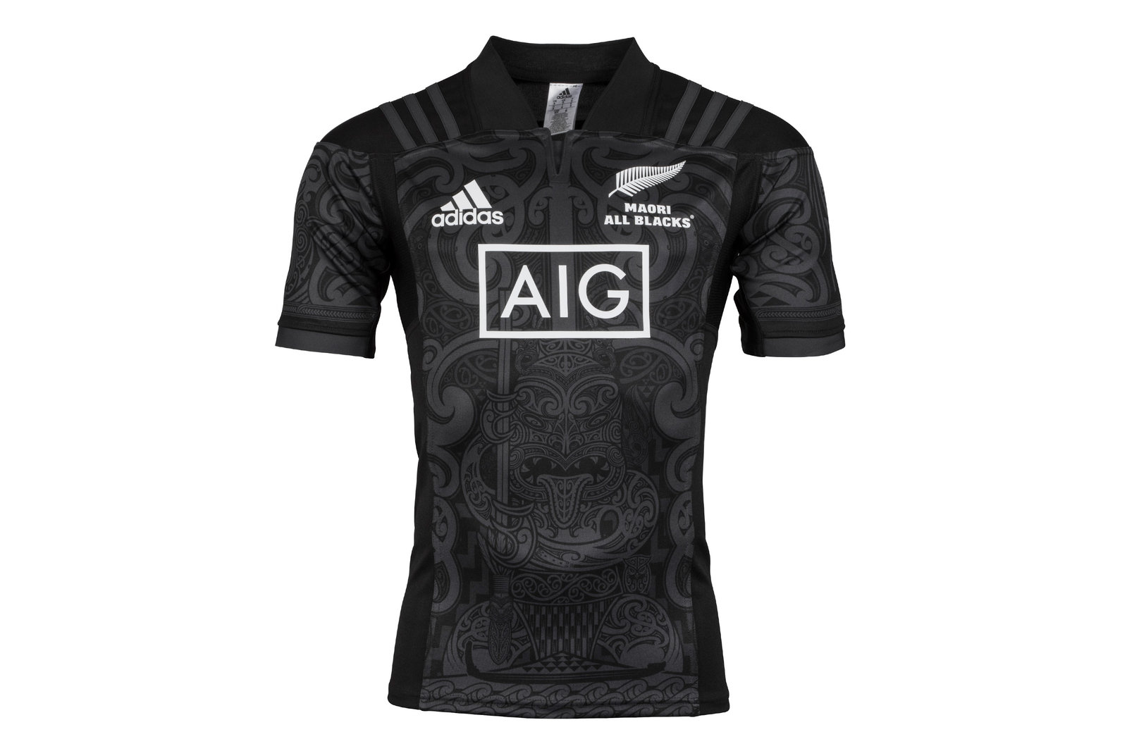 Details about adidas Mens New Zealand Maori All Blacks 2017 SS Rugby Shirt Top Sports