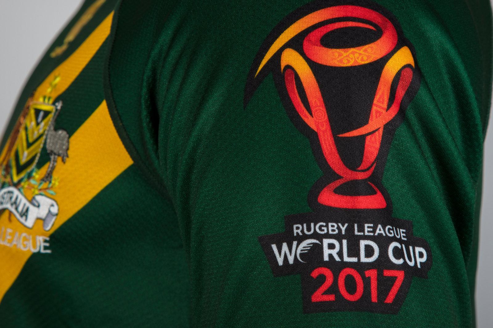 66d25a5dc17 Canterbury Australia Kangaroos RLWC 2017 Home Pro S/S Rugby League Shirt.  Product Code: 39572