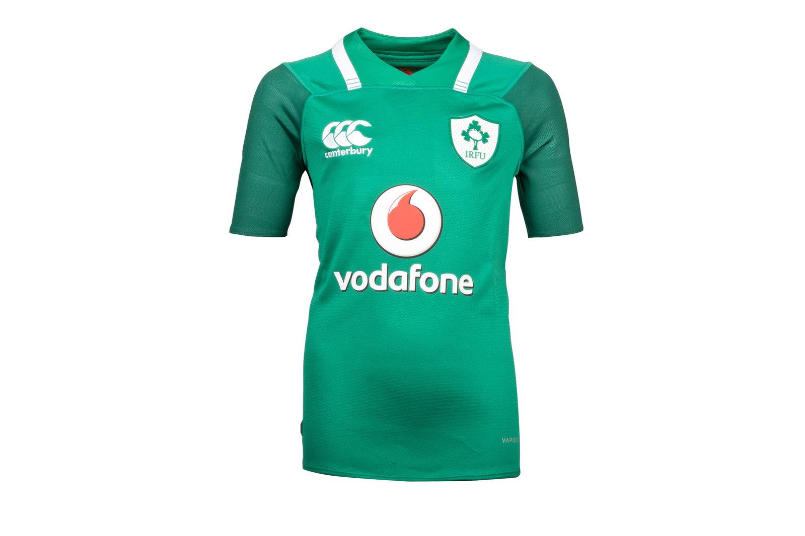 a0e21baef73 Canterbury Unisex Ireland IRFU 2017/18 Kids Home Pro S/S Replica Rugby Shirt  Top