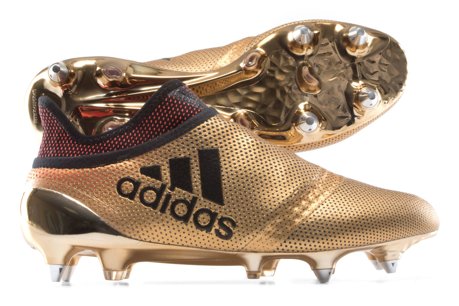 new style 05c31 acee6 adidas Mens X 17+ Purespeed Soft Ground Football Boots Studs Sports Shoes  Gold
