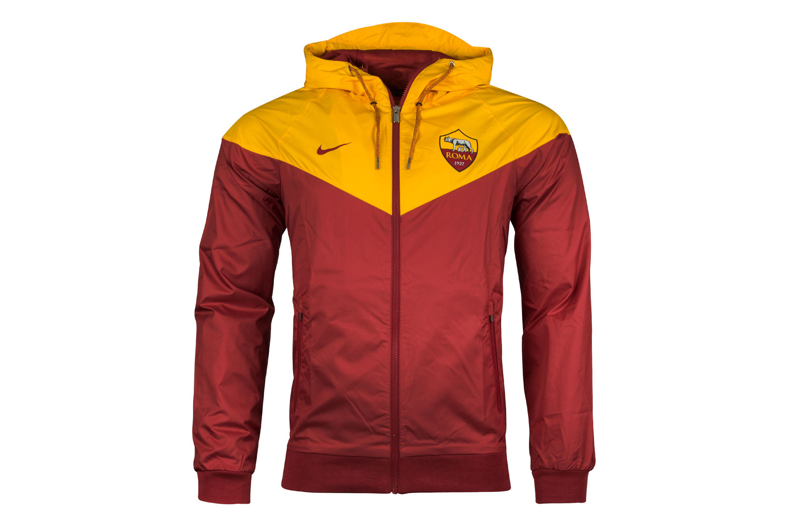 b12a9c91d Nike Mens AS Roma 17/18 Full Zip Authentic Windrunner Football Jacket