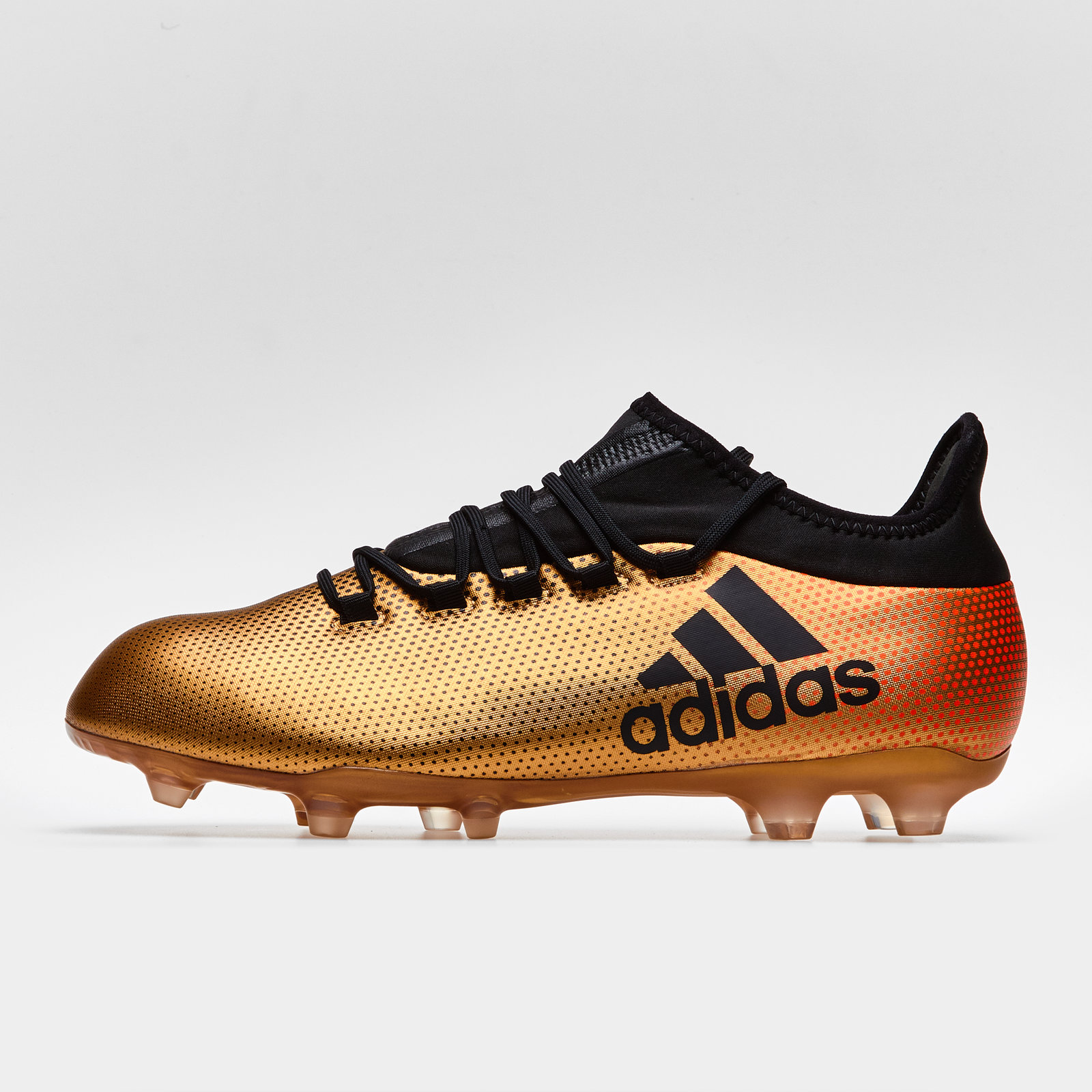 23fb75d8423 adidas Mens X 17.2 Firm Ground Football Boots Studs Trainers Sports Shoes  Gold
