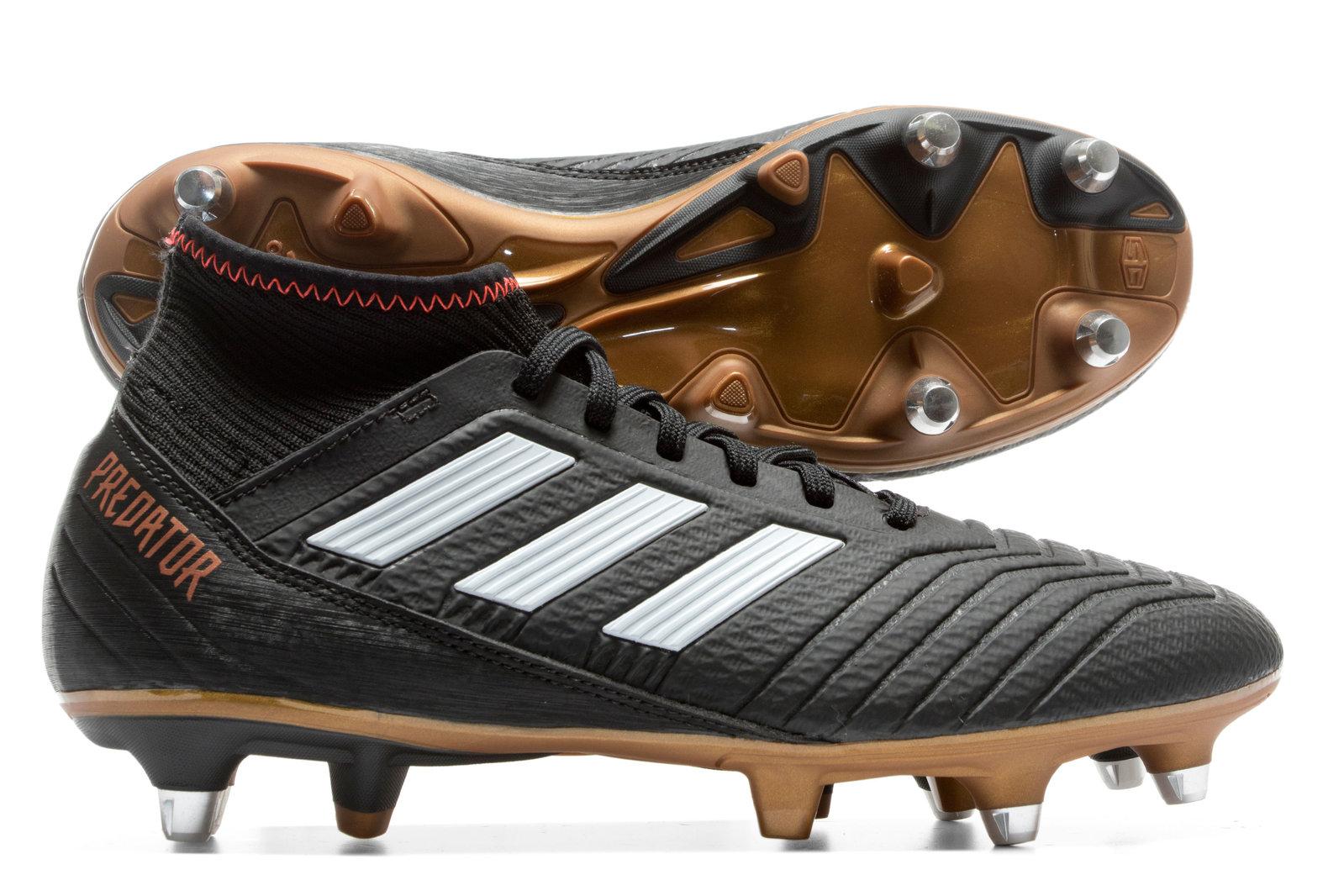 c7821bdd17a adidas Mens Predator 18.3 SG Football Boots Studs Trainers Sports Shoes  Black