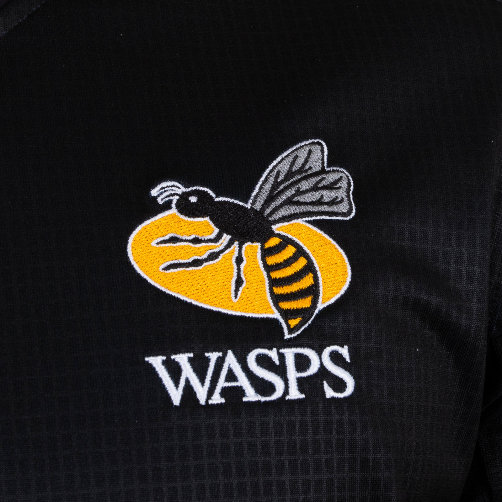377e4fe56c7 Under Armour Mens Wasps 2018/19 Home Short Sleeve Replica Rugby Shirt Black