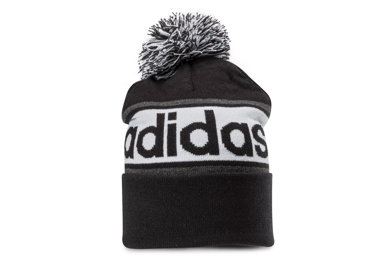 adidas Mens Linear Woolie Bobble Hat Sports Training Headwear  4dac0a5840a