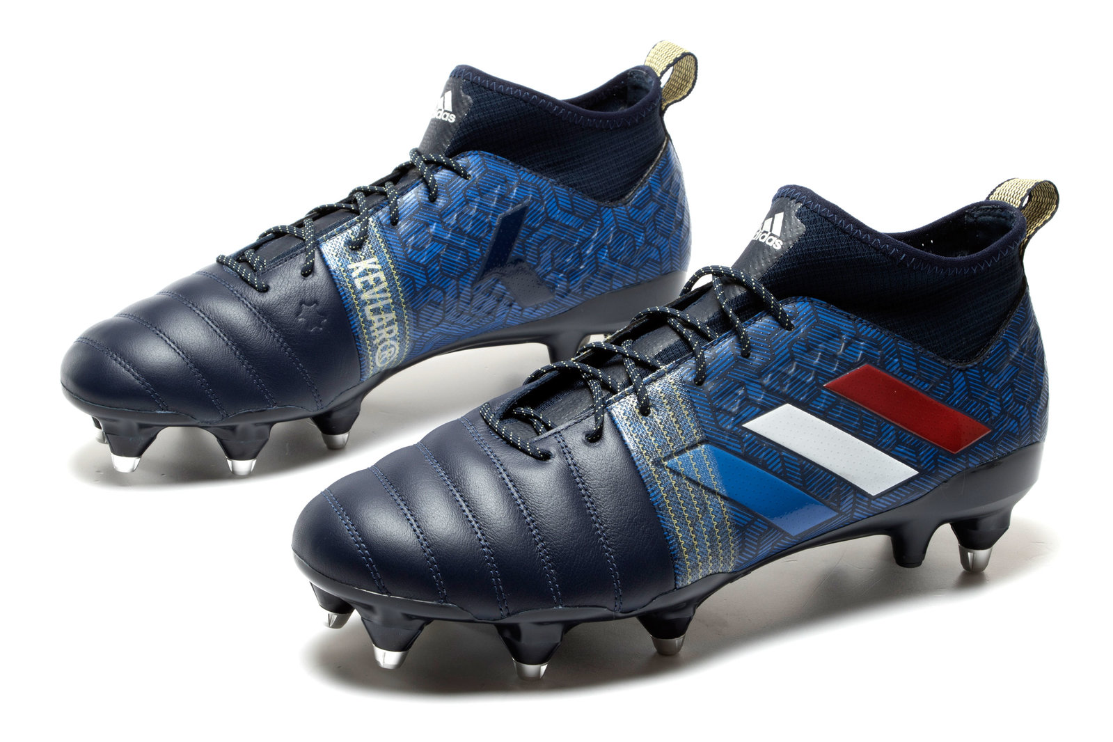 buy popular 0b0a3 0e9c5 adidas Mens Kakari X Kevlar Soft Ground Rugby Boots Sports Shoes Studs Navy
