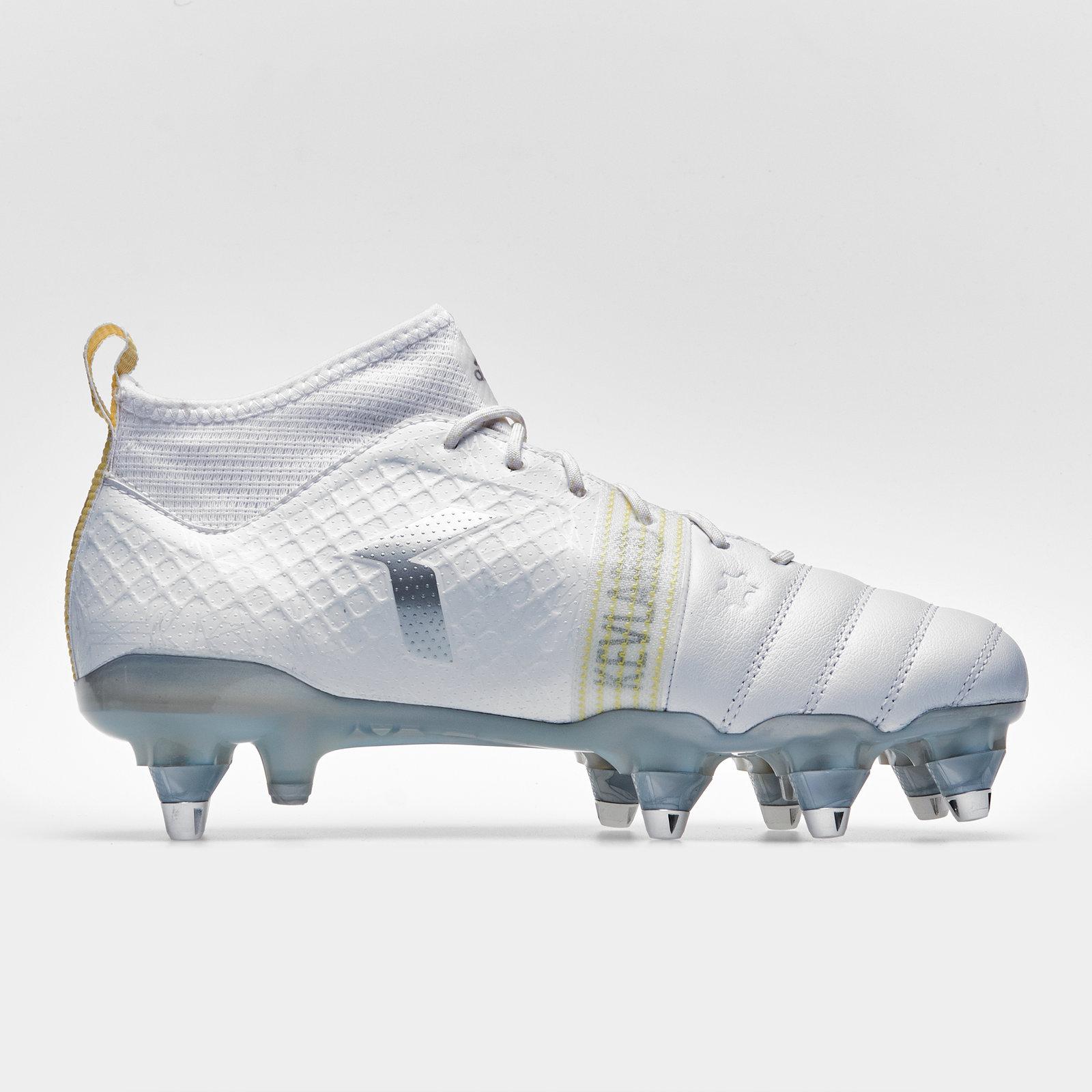 Sur Bottes Blanc Rugby X De Afficher Le D'origine Homme Kevlar Terrain Titre Souple Adidas Rivets Chaussures Sport Détails Kakari WCoedxrB