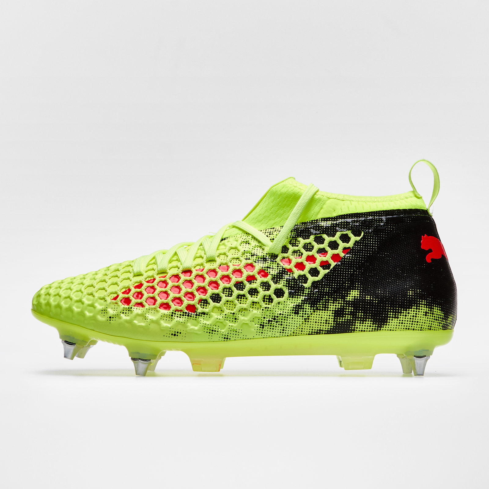 Puma FUTURE NETFIT - Moulded stud football boots - white-black-red z4wDiWwh